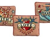 Set of three Tattoos - small cross stitch kits