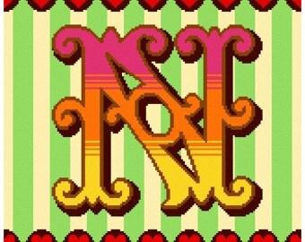Curious Alphabet Cross Stitch - N