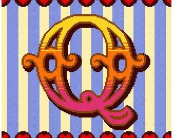 Curious Alphabet Cross Stitch kit - Q