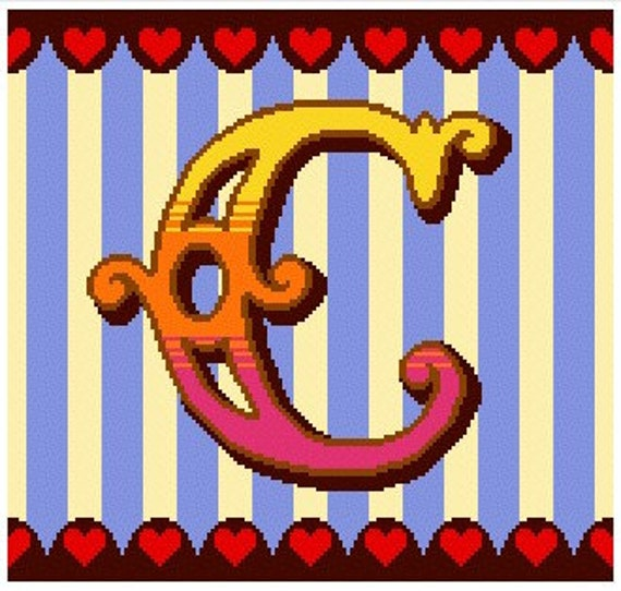Curious Alphabet Cross Stitch kit - C