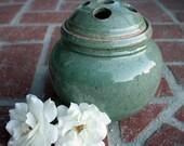 Stoneware Celadon Flower Frog Vase
