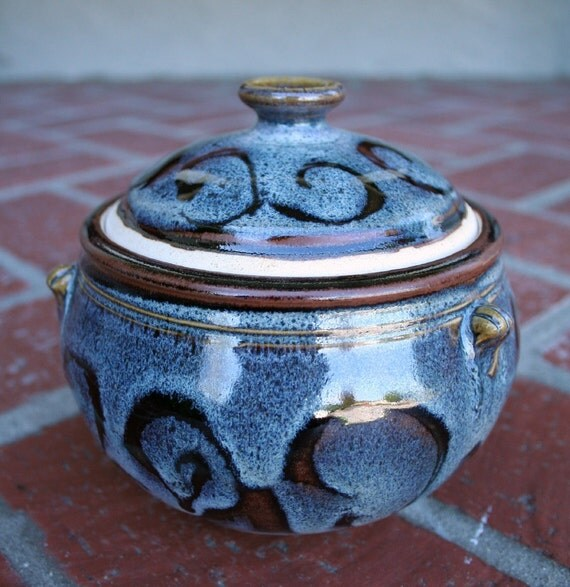 Starry Night Covered Jar