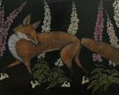 Foxgloves Print - 11 x 17 Print