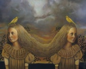 Two Canaries - Original Oil Painting - Reserved