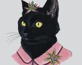 Black Cat Lady print 8x10