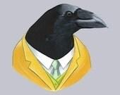 Raven print 5x7