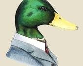 Mallard duck art print 11x14