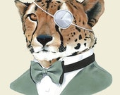 Cheetah art print 8x10