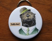 Sea Otter Keychain Bottle Opener - Ryan Berkley Illustration