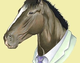 Horse print 5x7