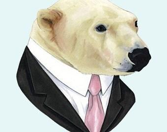 Polar Bear print 11x14