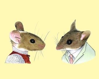 Two Mice print 5x7