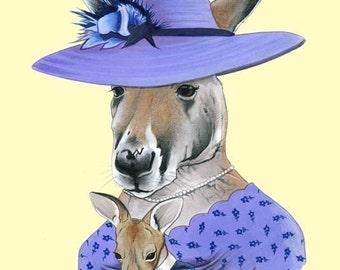 Kangaroo print 5x7