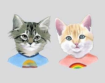 Wonder Kittens art print by Ryan Berkley 8x10