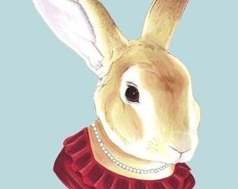 Lady Rabbit print 5x7