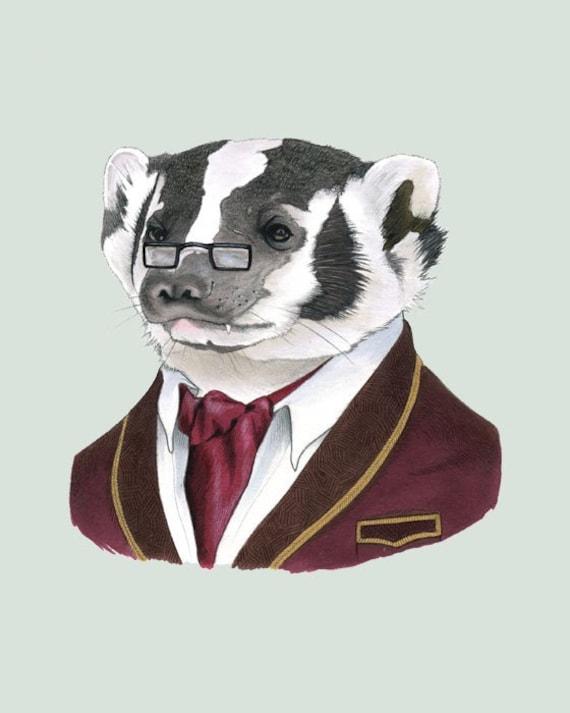 Badger print 8x10