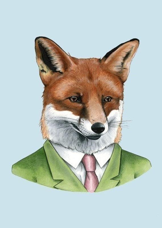 Red Fox print 5x7