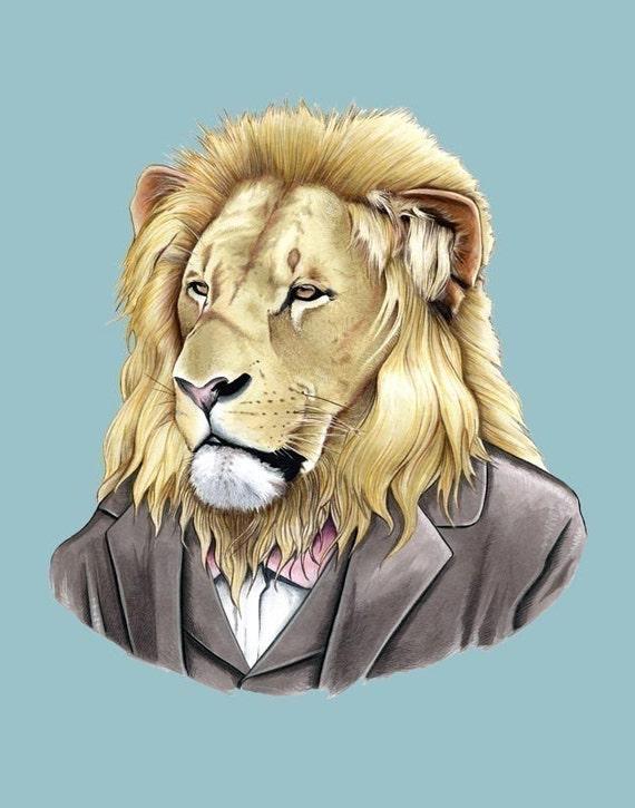Lion print 11x14