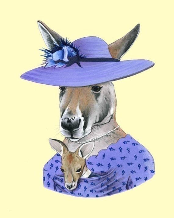 Kangaroo print 8x10