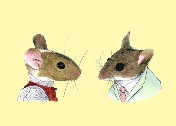 Two Mice print 8x10