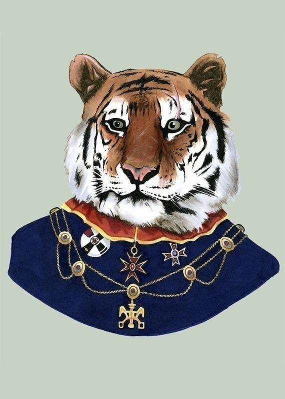 Tiger print 5x7