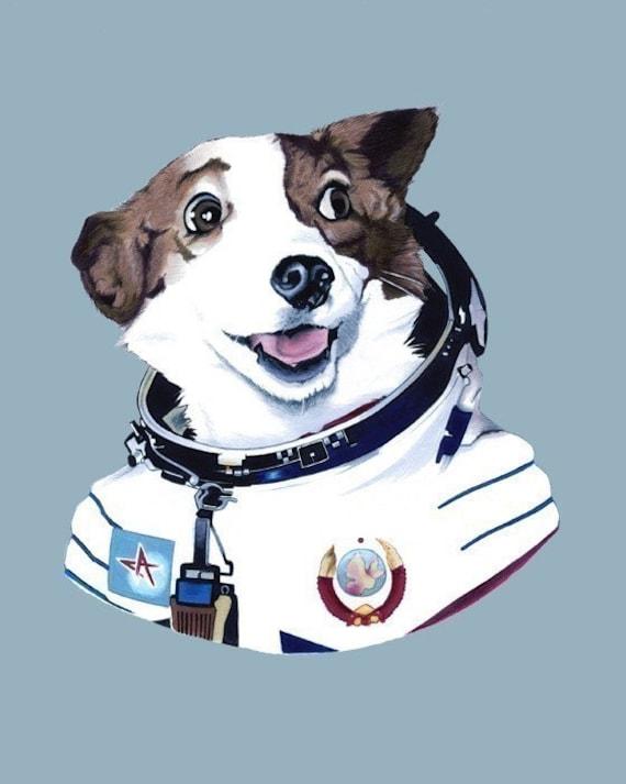 Strelka The Space Dog print 8x10