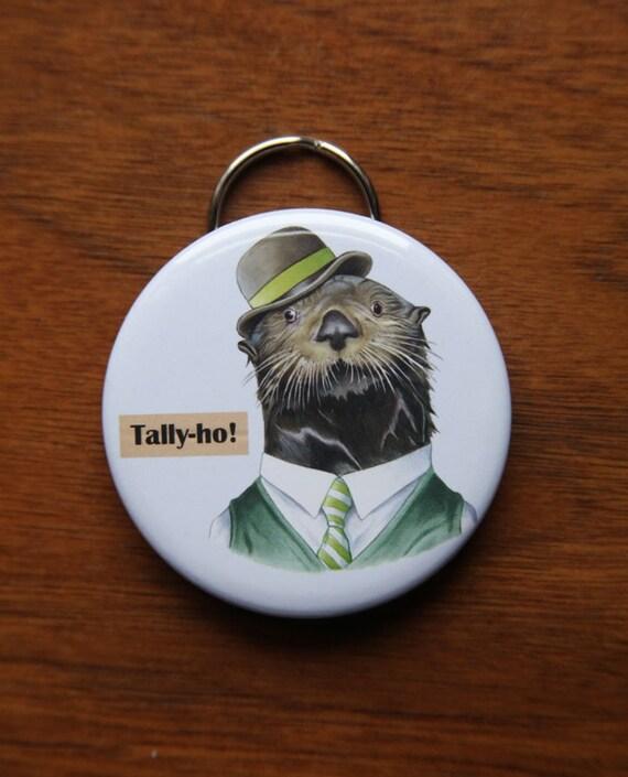 Sea Otter Keychain Bottle Opener - Ryan Berkley Illustration