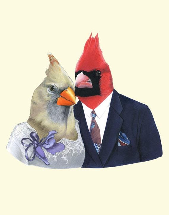 Mr and Mrs Cardinal print 11x14