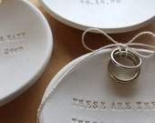 personalized Ring Bearer Bowl, custom wedding ring jewelry dish by Paloma's Nest in the words of your choice
