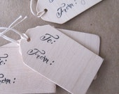 small wooden gift tags set of 6 by Paloma's Nest with calligraphy by MM Ink