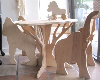 Tree Table- ready to ship- in birch from The Child's Menagerie Furniture Collection by Paloma's Nest
