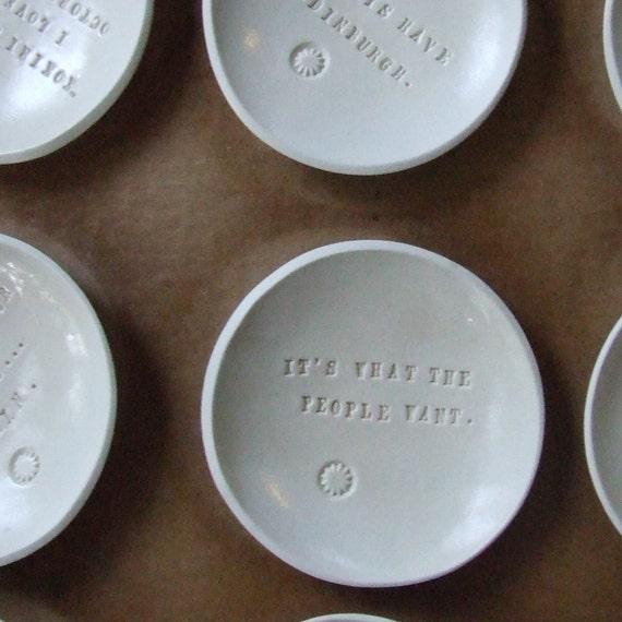 CUSTOM tiny text bowl by Paloma's Nest