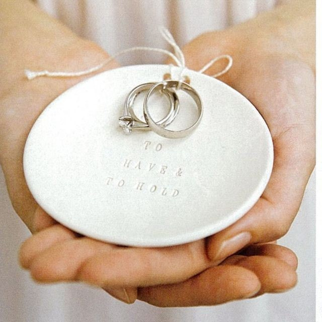 wedding ring holder jewelry dish for zoom - Wedding Ring Holder