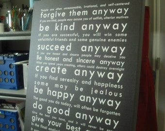 Do It Anyway - Instant Download Print for Canvas & Paper - Soft Black Background with White Lettering