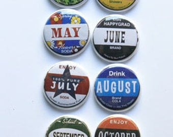 Bottle Cap Months Flair