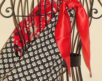 Bucket Style Tote Bag Twilight Inspired Volturi Red/Black/White Red Satin Scarf Inside Pocket Fully Lined By Make Mine Pretty