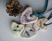 HOME hearts (ceramic pendant Set of 4)