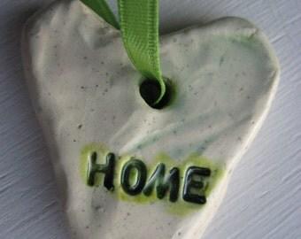HOME heart ornament