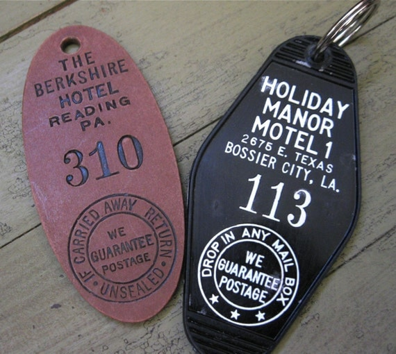 Vintage Hotel Key Tag Motel