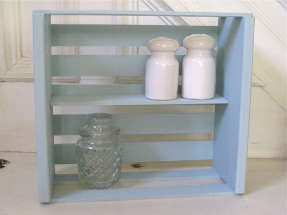 Vintage Wood Crate Wall Shelf Storage By Fishlegs On Etsy