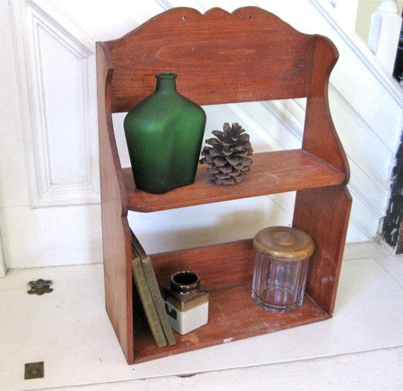 RESERVED - Vintage Primitive Shelf  - Rustic Furniture