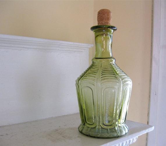 Vintage Green Bottle - Decanter