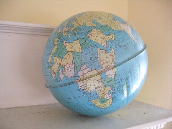Vintage World Globe - Metal