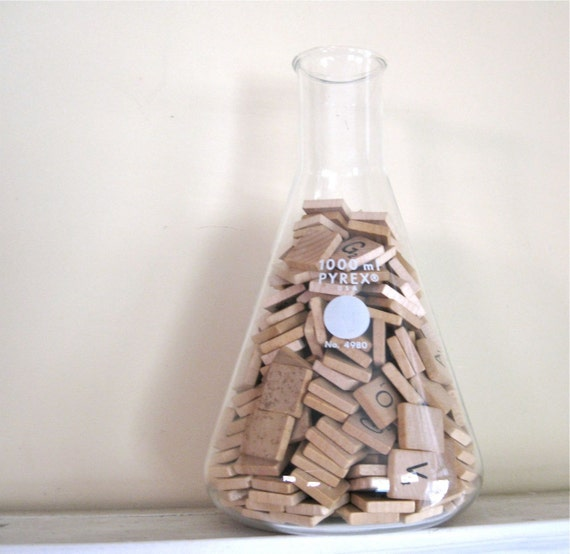 Vintage Laboratory Flask - Large Lab Glass