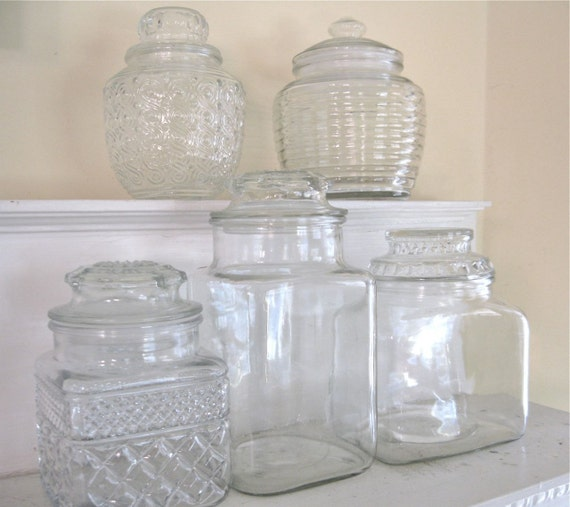 Vintage Jars for your Candy Buffet - set of 5