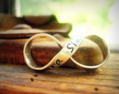 Custom Pocket Infinity -Silver Infinity Charm, Hand Stamped Message PERSONALIZED