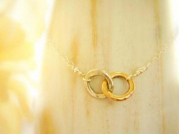 Mini Karma Bracelet Two Toned Infinity Together Forever Bracelet MADE TO ORDER