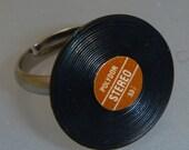 Hit Single, a miniature, vinyl, lp, record, ring