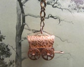 Copper Prairie Drifter stage coach, western, copper, cowgirl, necklace.