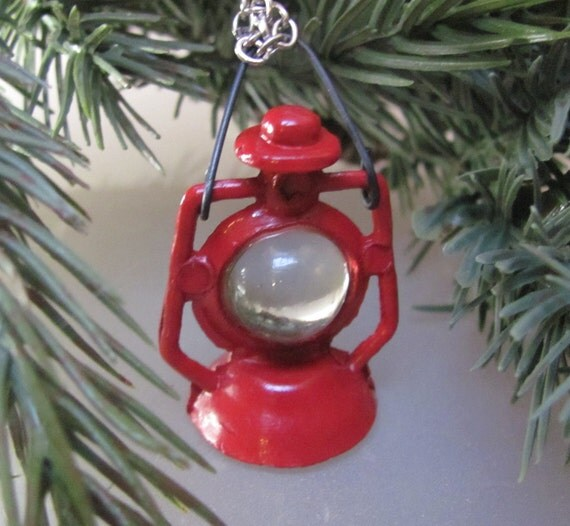 Let there be more light (a miniature red lantern necklace)